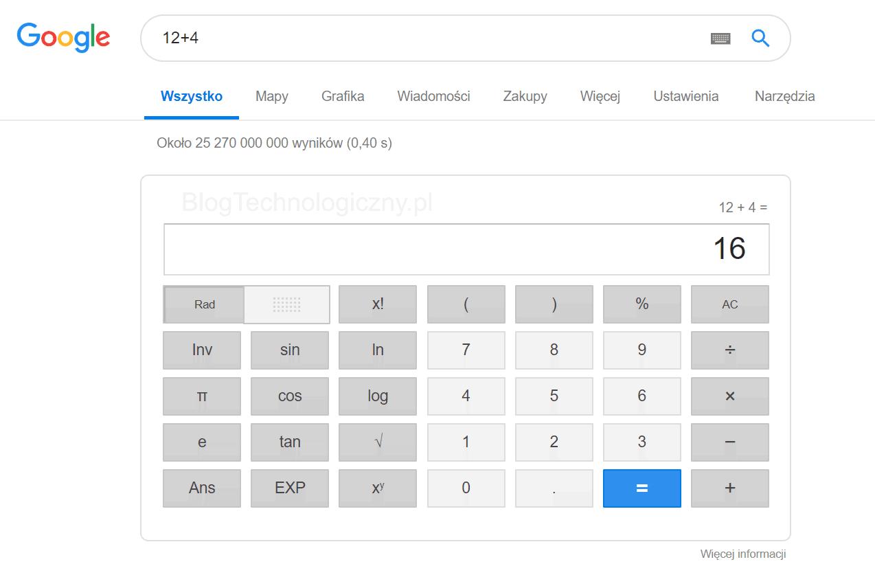 kalkulator Google